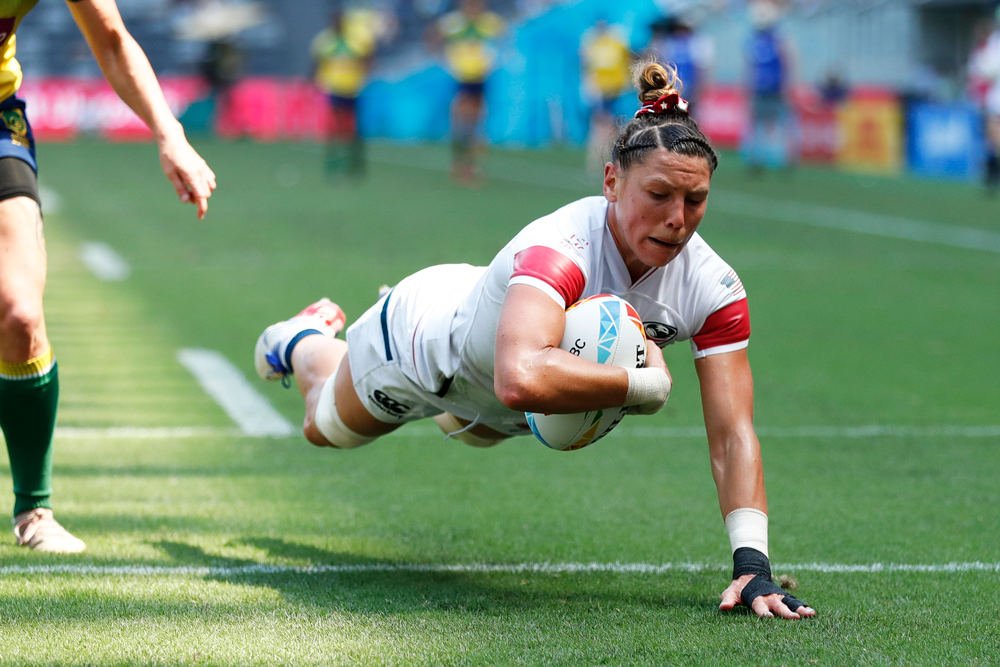 Usa Women S Sevens Bounce Back With Needed 6 Try Win Over Brazil In Sydney Usa Rugby Matches
